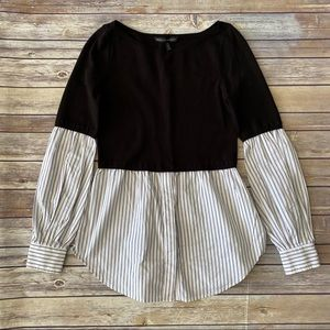 White House Black Market Puffy Sleeve Blouse